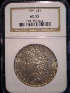 1894 Morgan $1 AU-55 Obv